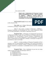 Projeto de Lei 049 - 05 Lei 496