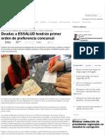 Deudas a ESSALUD Tendrán Primer Orden de Preferencia Concursal — La Ley - El Ángulo Legal de La Noticia