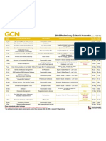 2010 Government Computer News editorial calendar