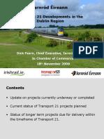 Irish Rail Presentation for Transport 21 Briefing