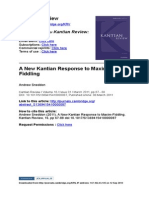 A New Kantian Response to Maxim-Fiddling 2011