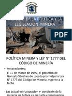 Análisis de La Política Minera y La Legislación Emilio Madrid