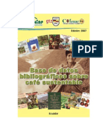 Base de Datos Bibliograficos Sobre Cafe Sustentable
