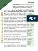 Lundquist CSR Online Awards Switzerland 2009 Executive Summary