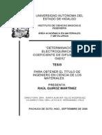 Determinacion electroquimica