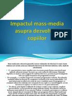 Impactul Mass Media Asupra Copilului