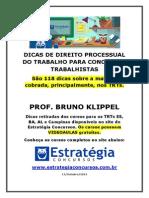 Dicas de Direito Processualdo Trabalho Para Concursos Trabalhistas - Bruno Klippel