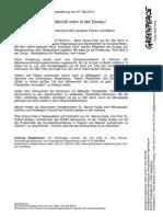 Presseerklärung Vom 27.05.2014 Kein Pastikmüll Mehr in Die Donau