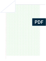 Chinese Writing Sheet - Small Green Squares