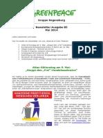 Newsletter 85 Greenpeace Regensburg Mai 2014