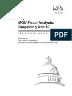 MOU Analysis for BU 10