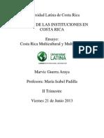 Ensayo - Costa Rica Multicultural y Multilingue