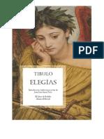Albio Tibulo, Elegías