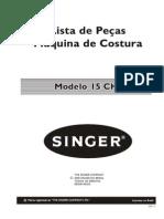 Lista Pecas Singer 15 Ch