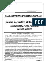 Exame OAB 2008-1 Prova Prático Profissional - Direito Administrativo