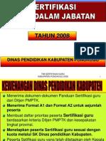 KEBIJAKAN SERTIFIKASI 2008.ppt