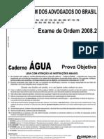 Exame OAB 2008-2 Prova Objetiva - Caderno Água