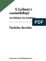 Nicholas Rescher G. W. Leibnizs Monadology 1991