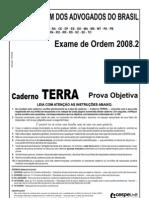 Exame OAB 2008-2 Prova Objetiva - Caderno Terra
