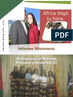 INFORME MISIONERO DE MOZAMBIQUE - NOVIEMBRE DE 2009