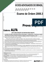 Exame OAB 2008-3 Prova Objetiva - Caderno Alfa