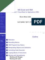 Excel VBA Module 3 Slides