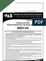 Exame OAB 2009-2 Prova Prático Profissional - Direito Civil