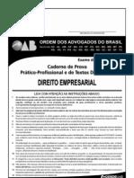 Exame OAB 2009-2 Prova Prático Profissional - Direito Empresarial