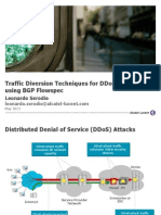 Traffic Diversion Techniques for DDoS Mitigation