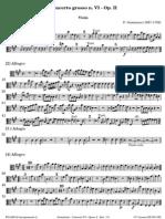 Geminiani Concerto Grosso VI Op 2 Viola 0