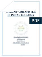 role of crr and slr