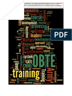 Transdisciplinary Framework for Developing Training & Education in the U.S. Army