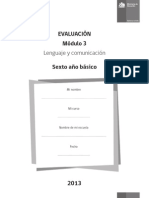.Evaluacion 6basico Modulo3 Lenguaje