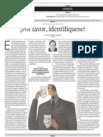 El Comercio _ 07-05-14 _ Por Favor Identifiquese - 1