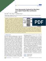 Toward Blue Luminescent SiNPs JPCP 2012