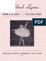 1966 Myldred Lyons Dance Program