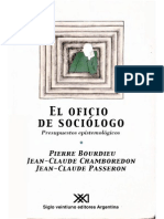 Bourdieu, P. El Alt. El Oficio de Sociólogo