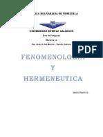f3nomenologia y Hermeneutica Ingrid
