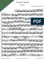 Schickhardt Concerto I Op XIX Flauto I