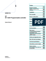 SIEMENS SIMATIC S7-1200 Programmable Controller - System Manual