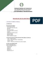 Roteiro Exame Físico MS
