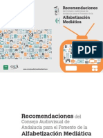 Recomendaciones Alfabetizacion Mediatica Consejo Audiovisual Andalucia