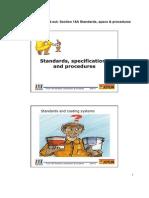 Standards , Specs and Procedures