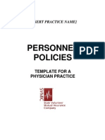 Personnel Policies Template