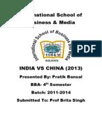 India vs China 2013