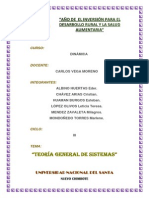 Informe de Teoría General de Los Sistemas