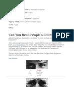 People Eye's Emotions