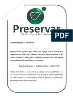 Serviços Preservar Consultoria Ambiental