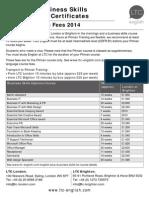 Pitmans 2014 Price List