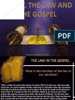 2nd Quarter 2014 Lesson 9 Christ, The Law and the Gospel